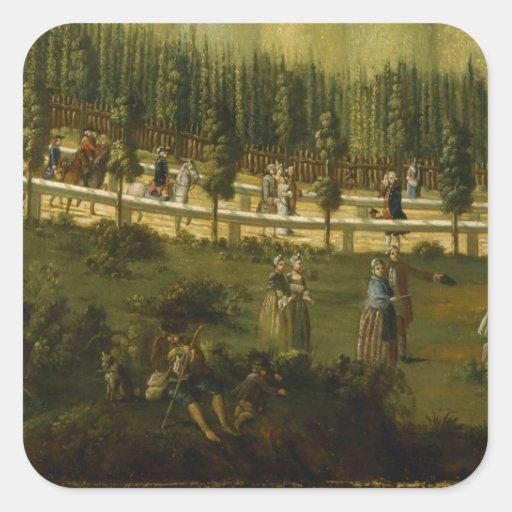 Frederick el grande a caballo calcomania cuadradas