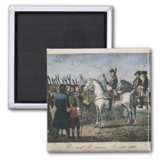Frederick el grande con los granjeros imán cuadrado