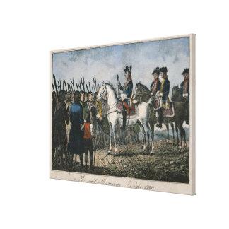Frederick el grande con los granjeros lona envuelta para galerias
