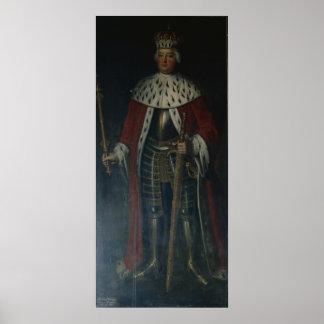 Frederick Guillermo I, rey de la regalía de Prusia Poster