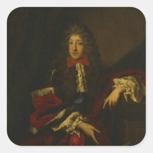Frederick I, Kurprinz de Brandeburgo Calcomanías Cuadradass