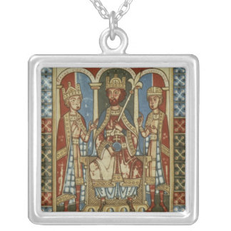 Frederick I with his two sons Silver Plated Necklace