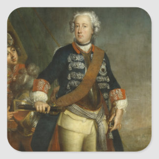 Frederick II as King Square Sticker
