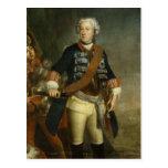 Frederick II como rey Tarjeta Postal