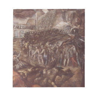 Frederick II conquered Parma in 1521 by Tintoretto Note Pad
