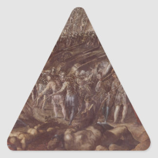 Frederick II conquered Parma in 1521 by Tintoretto Triangle Sticker