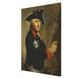 Frederick II el grande de Prusia, 1764 Impresión En Lona