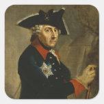 Frederick II el grande de Prusia, 1764 Calcomania Cuadradas