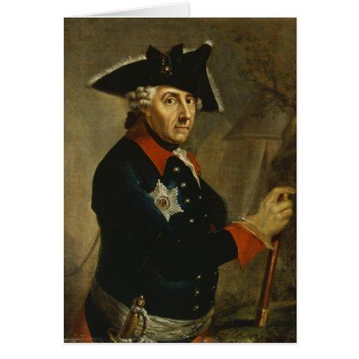 Frederick II el grande de Prusia, 1764 Tarjeton