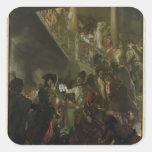 Frederick II el grande, en Lissa, Bonsoir Pegatinas Cuadradases Personalizadas