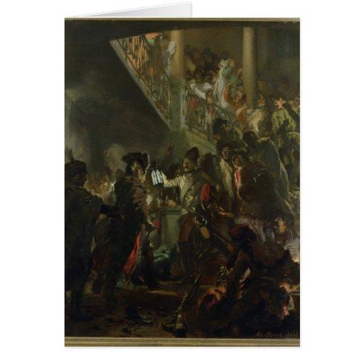 Frederick II el grande, en Lissa, Bonsoir Tarjeta