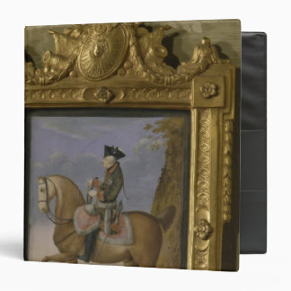 Frederick II on horseback 3 Ring Binder