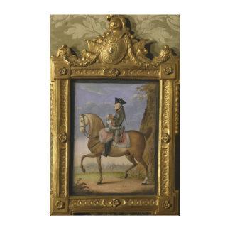 Frederick II on horseback Canvas Print