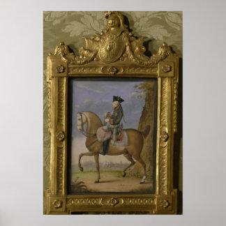 Frederick II on horseback Print