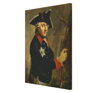 Frederick II the Great of Prussia, 1764 Canvas Print