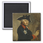 Frederick II the Great of Prussia, 1764 2 Inch Square Magnet