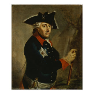 Frederick II the Great of Prussia 1764 Poster