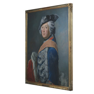 Frederick II the Great of Prussia, after 1753 Canvas Print