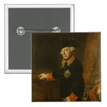 Frederick II The Great of Prussia, c.1763 2 Inch Square Button