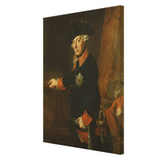 Frederick II The Great of Prussia, c.1763 Canvas Print