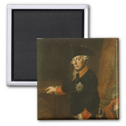 Frederick II The Great of Prussia, c.1763 2 Inch Square Magnet