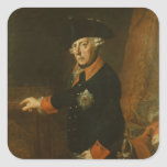 Frederick II The Great of Prussia, c.1763 Square Sticker