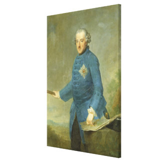 Frederick II the Great of Prussia, c.1770 Canvas Prints
