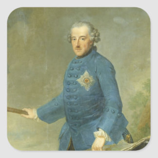 Frederick II the Great of Prussia, c.1770 Square Sticker