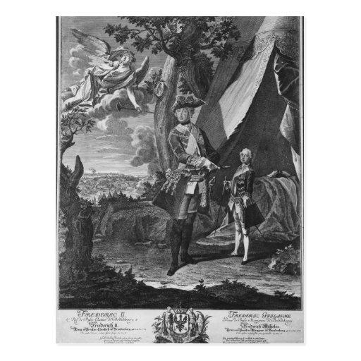 Frederick II y su sobrino Frederick Guillermo Tarjetas Postales