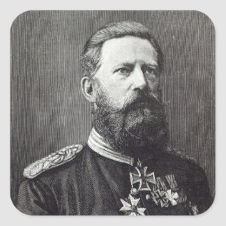 Frederick III, from 'Leisure Hour', 1888 Square Sticker