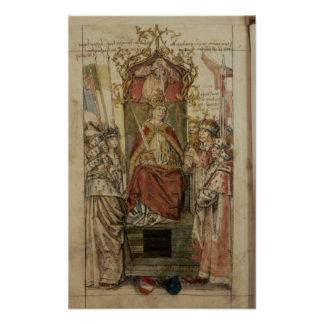 Frederick III surrounded by Prince Electors Poster