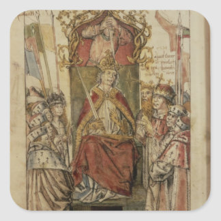 Frederick III surrounded by Prince Electors Square Sticker