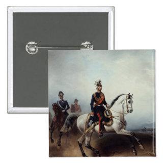 Frederick III Wilhelm en el campo de Bornstedter Pin Cuadrada 5 Cm