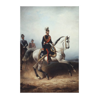 Frederick III Wilhelm on the Bornstedter Field Stretched Canvas Prints
