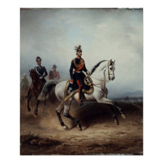 Frederick III Wilhelm on the Bornstedter Field Poster