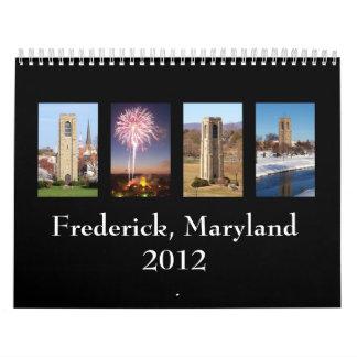 Frederick, Maryland 2012 Calendarios De Pared