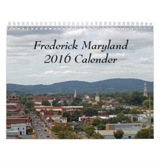 Frederick Maryland 2016 Calendar