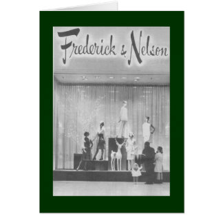 Frederick & Nelson Christmas Window Greeting Card