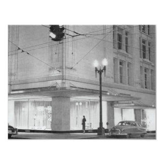 Frederick & Nelson, night view c1952 Card