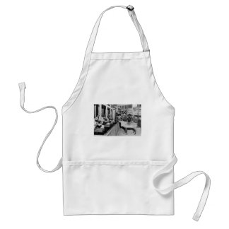 Frederick & Nelson Raindeer in the Window Adult Apron