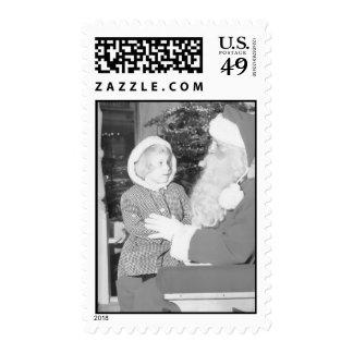 Frederick & Nelson Santa Stamps