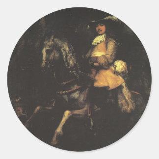 Frederick Rihel Classic Round Sticker