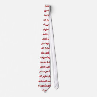 Frederick script logo in red distressed tie