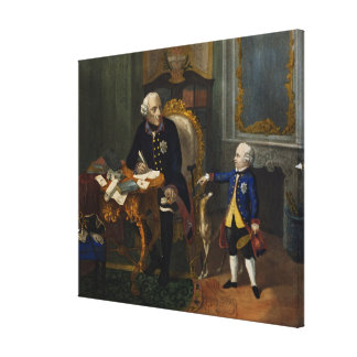 Frederick the Great and his Grandnephew Canvas Print