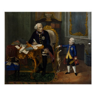 Frederick the Great and his Grandnephew Poster