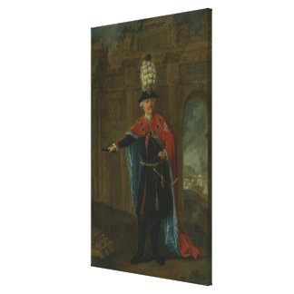 Frederick the Great dressed in the costume Canvas Print
