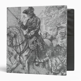 Frederick the Great of Prussia 3 Ring Binder