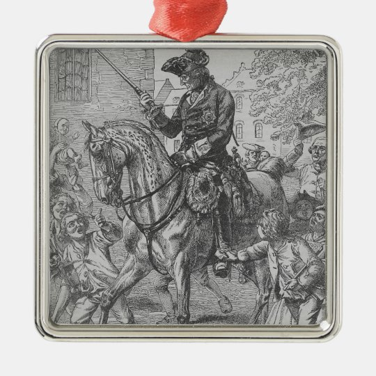 Frederick the Great of Prussia Metal Ornament