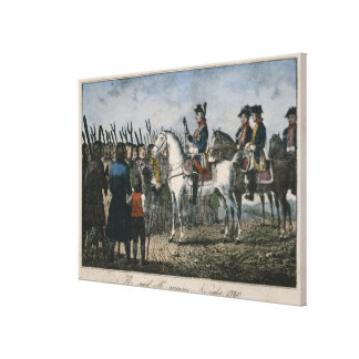 Frederick the Great with the farmers Canvas Print