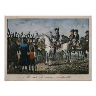 Frederick the Great with the farmers Posters